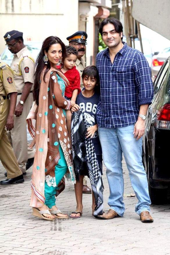 Arbaaz Khan With Wife and Kid's at Salman Khan's Eid Party