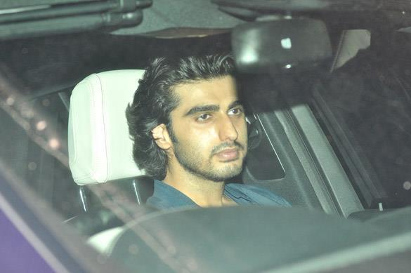 Arjun Kapoor Arrives at Salman Khan's Eid Party in Mumbai