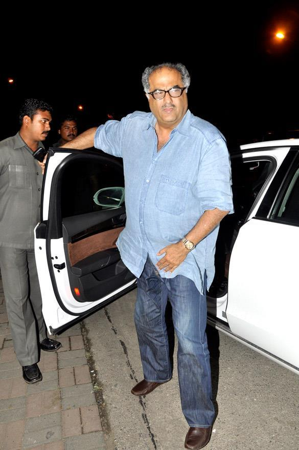 Boney Kapoor Spotted at Eid Party Hosted By Salman Khan