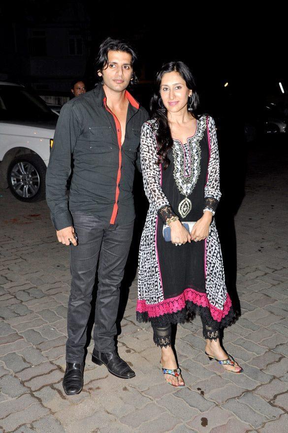 Karan With Wife at Salman Khan's Eid Party
