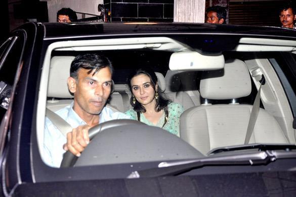 Preity Zinta Arrives at Salman Khan's Eid Party in Mumbai