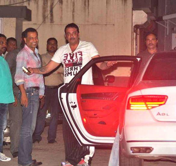 Sanjay Dutt Spotted at Salman Khan's Eid Party