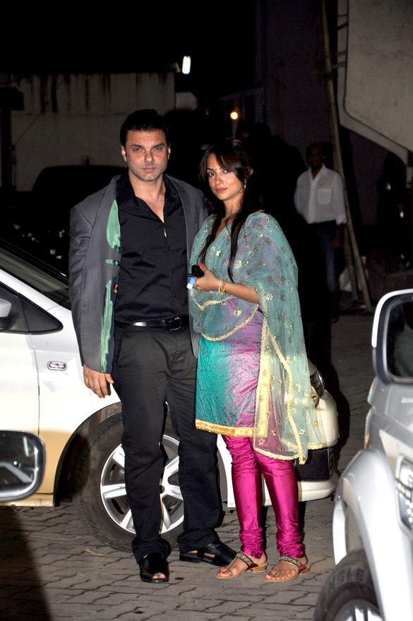 Sohail Khan wife Seema at Salman Khan's Eid Party