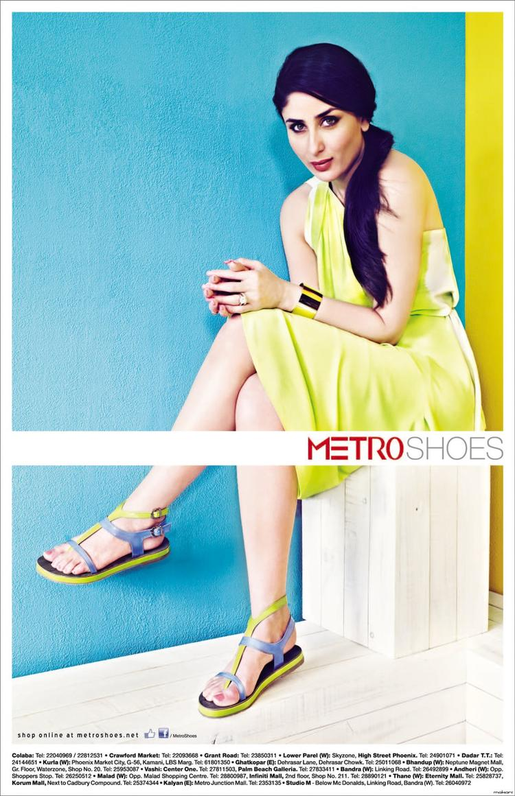 Most Beautiful Kareena Latest Pic For Metro Shoes