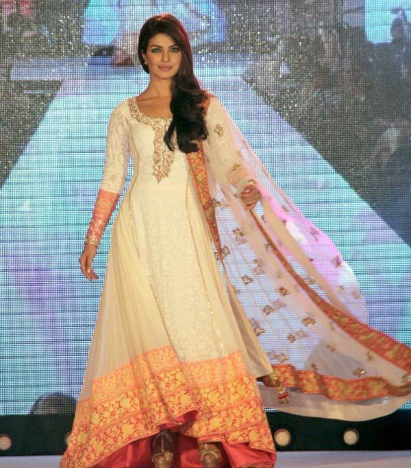 Priyanka Chopra In Salwar Kameez at The Fashion Show at Andheri