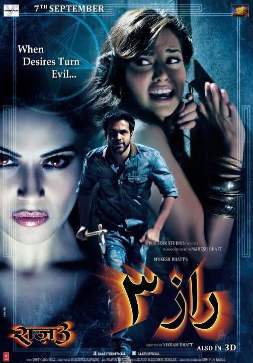Bollywood Erotic Horror Thriller Film Raaz 3 Poster
