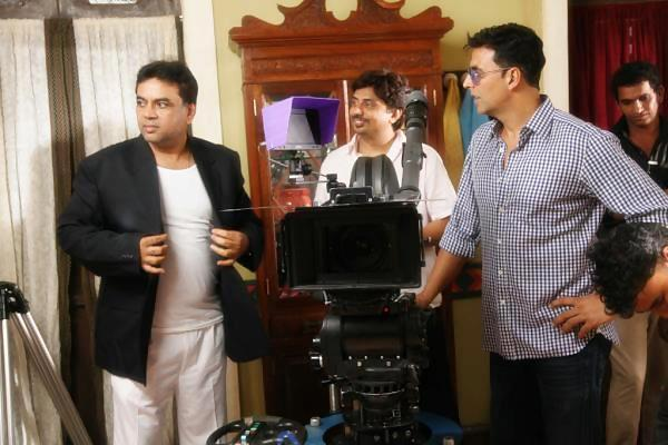 Akshay and Paresh On The Sets Of Oh My God