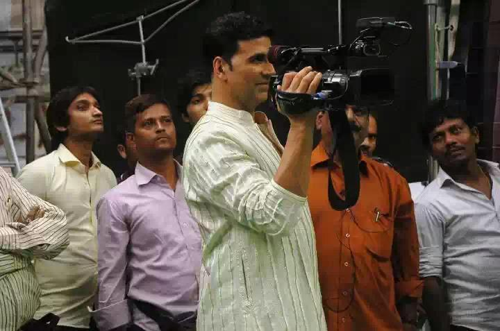 Akshay Kumar With Camera On The Sets Of OMG