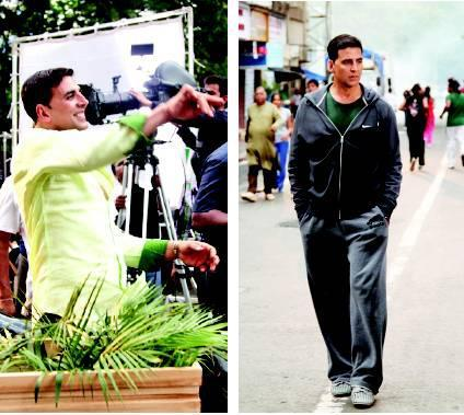 Akshay Kumar On The Streets of Mumbai For OMG Movie