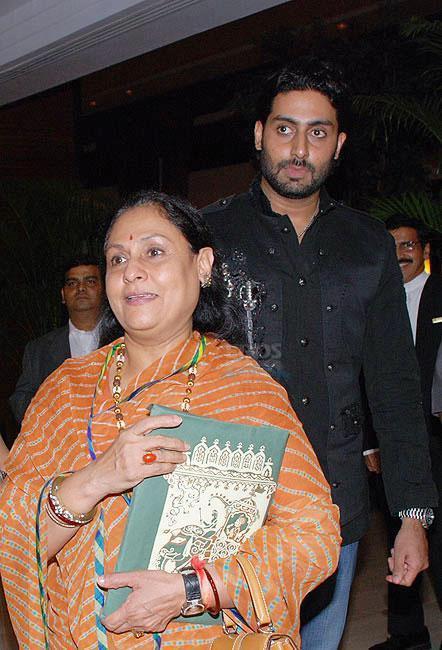 Abhishek Bachchan and Jaya Bachchan Spotted at an Event
