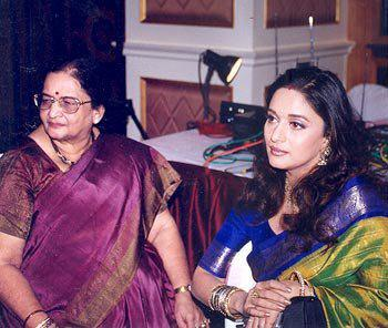 Madhuri Dixit and Mother Snehlata Dixit