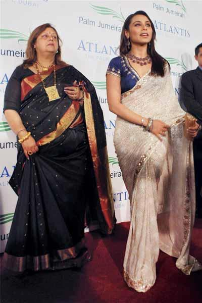 Rani Mukherjee Along With Her Mother At The Opening Atlantis