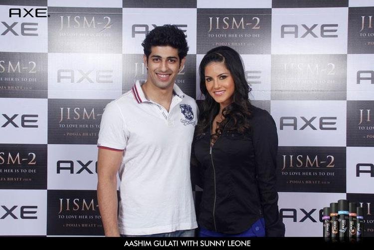 Aashim Gulati and Sunny Leone Strikes a Pose at Axe Angle Club
