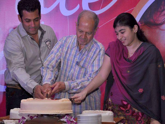 Salman Khan Cake Cutting Pic at The Magic Bullet 10 Year Celebration