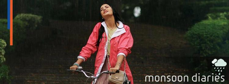 Nargis Fakhri Enjoying The Rain For Parachute Advansed Hot Oil Ad