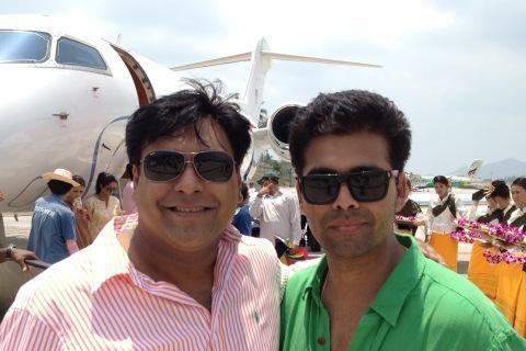 Karan Johar and Ram Kapoor Nice Pics On The Sets of Student Of The Year