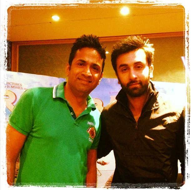 Ranbir Kapoor In London For Barfi Movie Press Junket