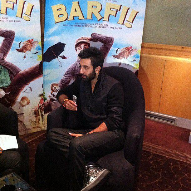 Ranbir Kapoor In London at Press Junket For Barfi