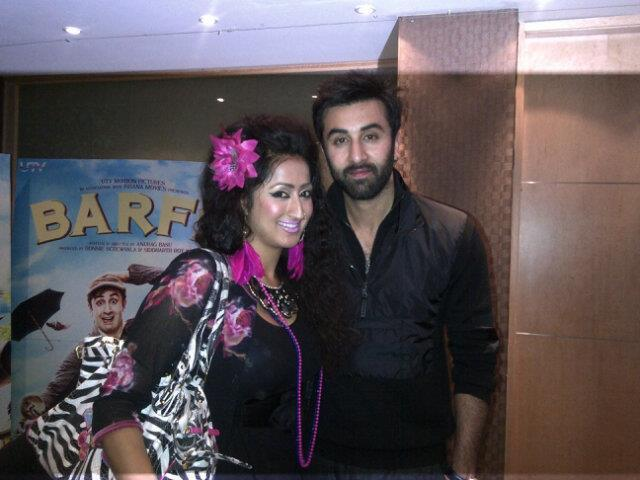 Ranbir Kapoor Pose During Press Junket For Barfi