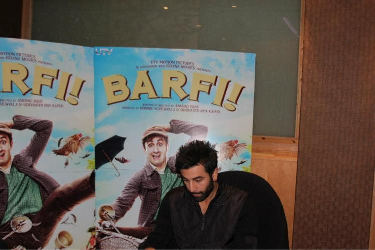 Ranbir Kapoor At The Press Junket For Barfi in London