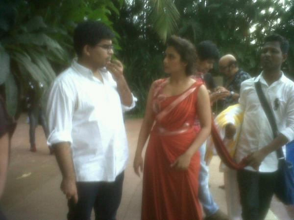 Rani Mukherjee On The Set Of Filmfare Shooting