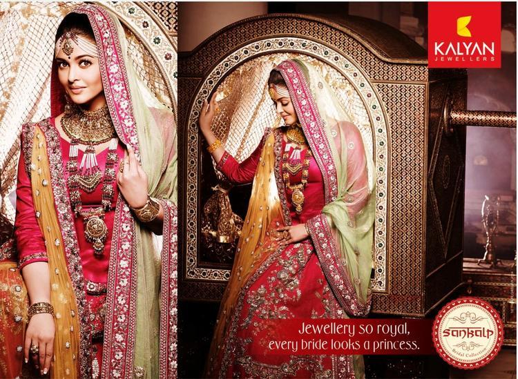 Aishwarya Rai Kalyan Jewellers Print Ad Pic
