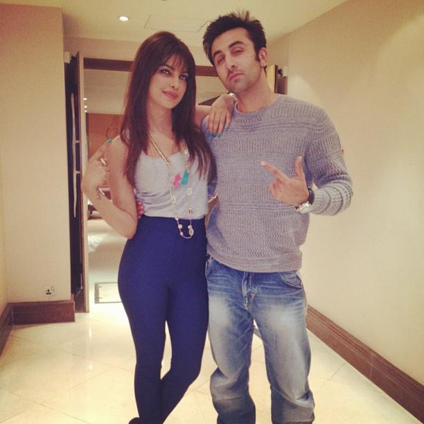 Priyanka  and Ranbir Latest Pose During Barfi Promotion