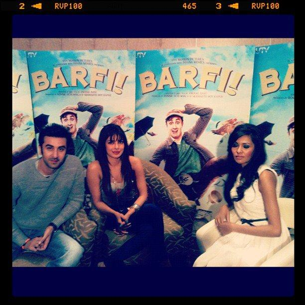 Priyanka and Ranbir Promote Barfi In London