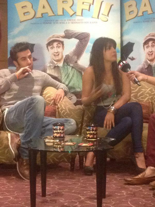 Priyanka Chopra and Ranbir Kapoor Promote Barfi in London