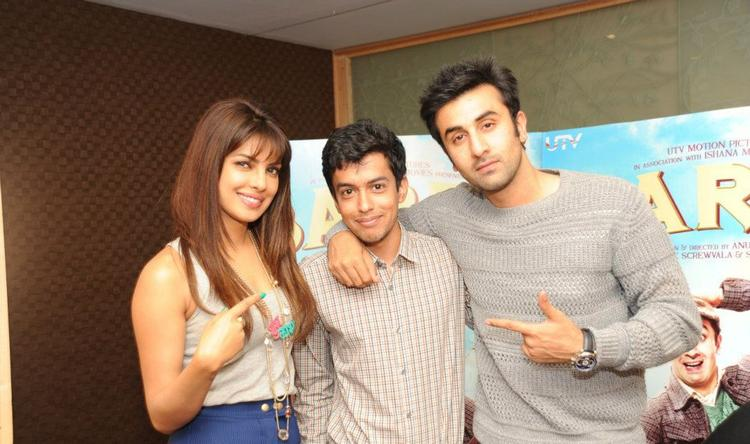 Priyanka Chopra and Ranbir at London For Barfi Promotion
