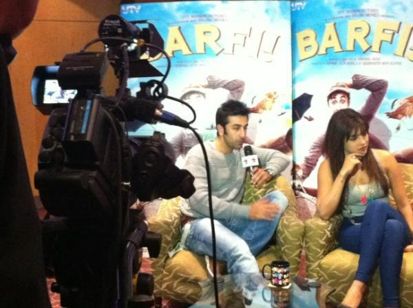 Priyanka Chopra and Ranbir at Promotion Of Barfi in London