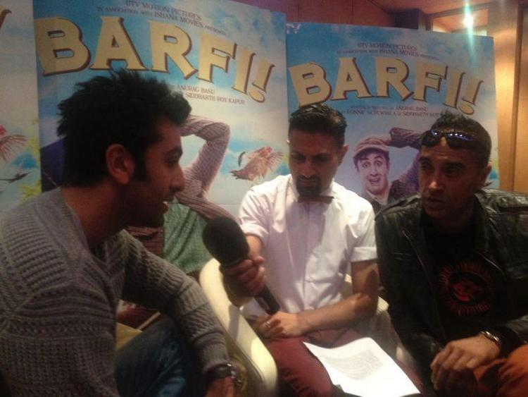 Ranbir Kapoor Press Meet Pic For Barfi Promotion