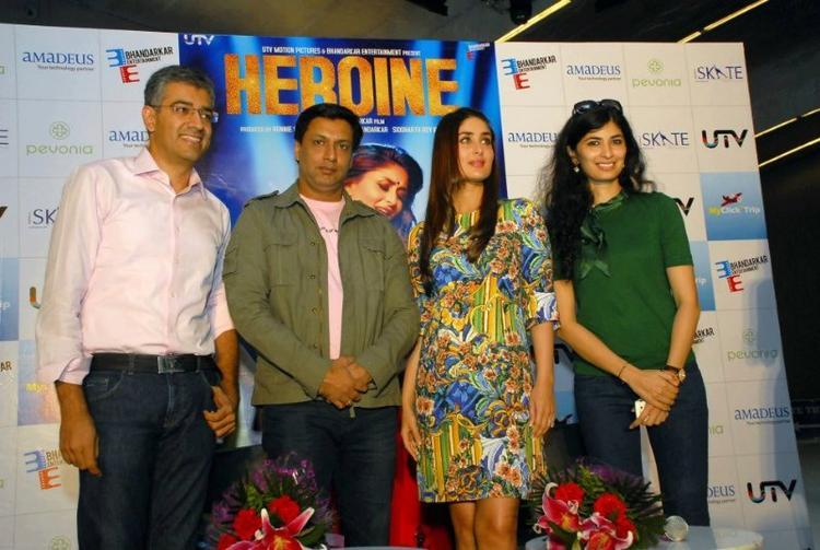 Kareena With Madhur Bhandarkar Promotes Heroine In Gurgaon