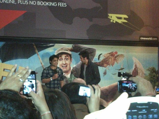 Ranbir Kapoor Promote Barfi at Cineworld Feltham In UK