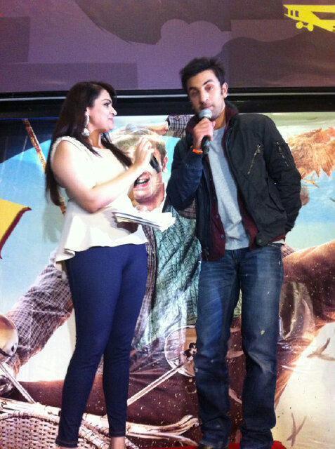 Ranbir Kapoor Promotes Barfi at Cineworld Feltham in UK