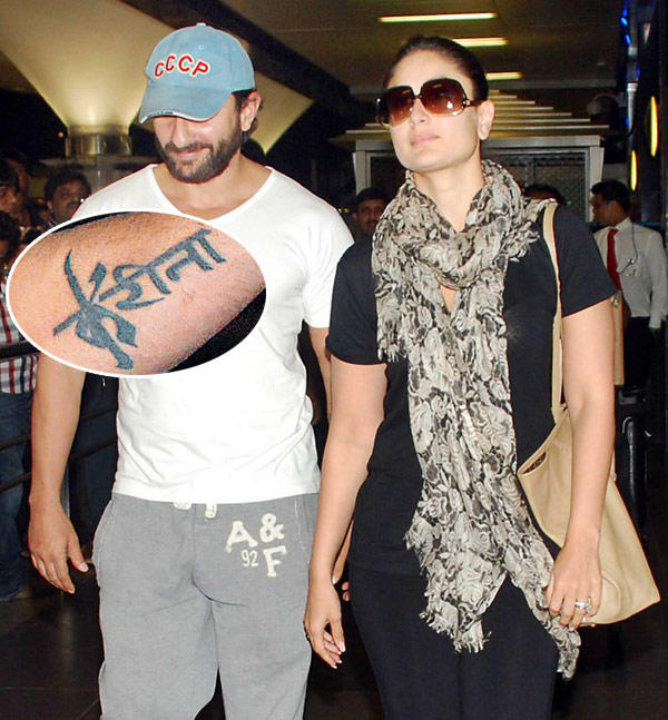 Saif Professed His Undying Love For Bebo By Tattooing Kareena on His Arm Back in 2008