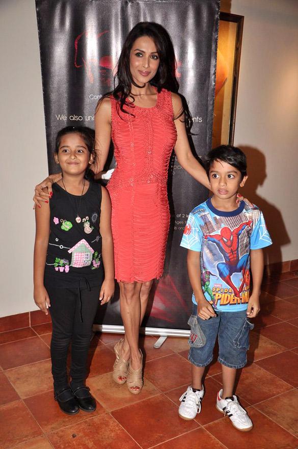 Malaika in Orange Dress at Strut Dance Academy's 1st Anniversary Bash