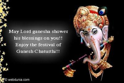 Beautiful Indian Ganesh Chaturthi Greetings