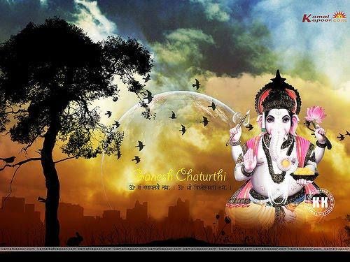 Beautiful Indian Ganesh Chaturthi Wallpaper