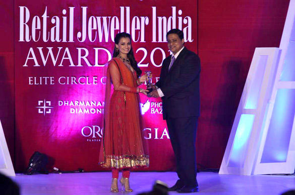 Dia Mirza at 8th Annual Gemfields and Rio Tinto Retail Jeweller India Awards 2012