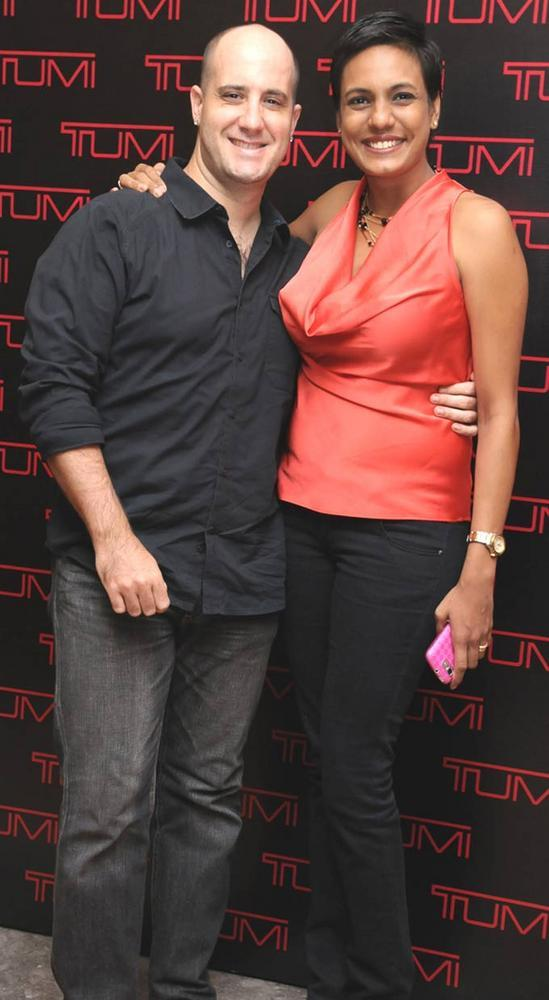 Ashwin Mushran with wife at The Tumi Store Launch Event