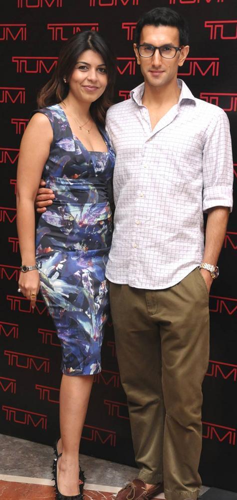 Tanaaz Bhatia and Raisinh Jadeja Attended The Tumi Store Launch