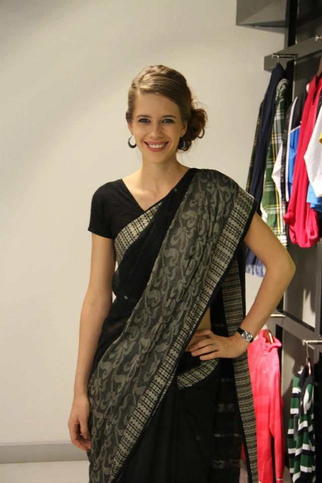 Kalki Koechlin Looking Beautiful In Black Saree