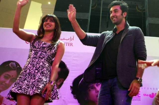 Priyanka and Ranbir in Dubai For Barfi Promotion