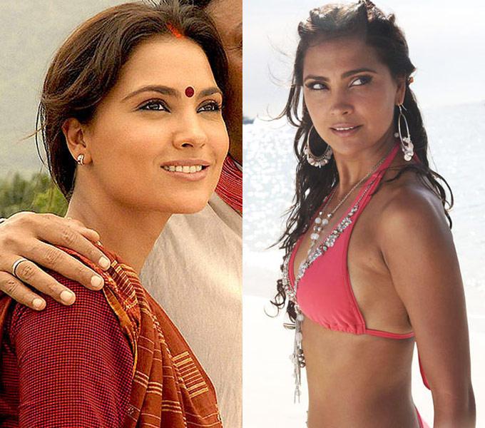Lara Dutta Hot Bikini Pic In Blue and Innocent Villager in Mumbai Se Aaya Mera Dost