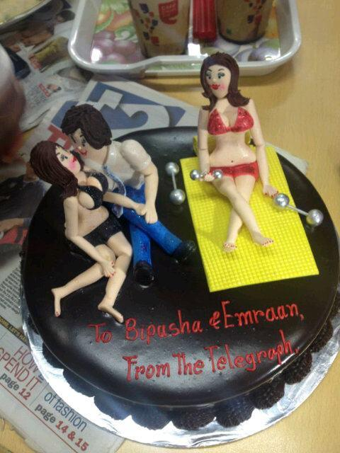 Cake To Bipasha and Emraan From The Telegraph