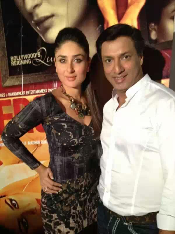 Kareena Kapoor With Madhur During Heroine Promotion