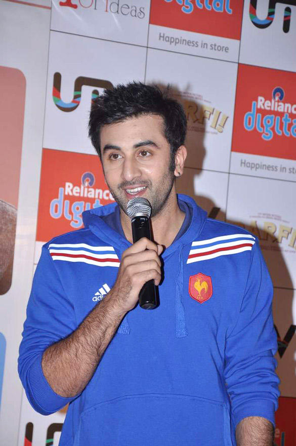 Ranbir Kapoor with Youtube Interactive Application For Barfi