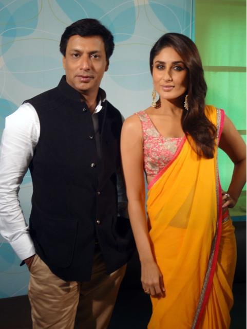 Kareena and Madhur Bhandarkar On The Sets Of Indian Idol For Heroine Promotion