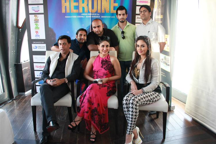 Zee Aflam with Kareena and Madhur During Heroine Promotional Event